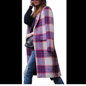 Zara Tartan Plaid Coat